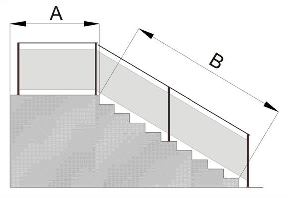 Barandillas precios c mo medir su barandilla barandillas for Como calcular una escalera