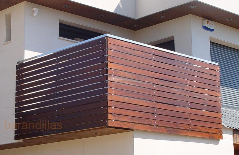 Barandillas precios exterior madera barandillas for Escalera exterior de acero galvanizado precio