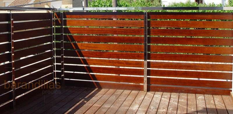 Madera m1 barandillas for Barandilla escalera exterior