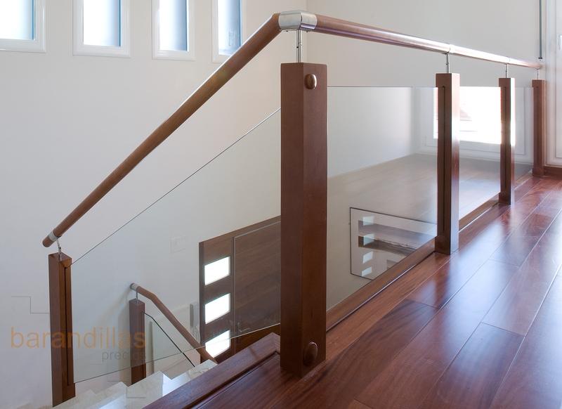 Cristal vi9 barandillas - Escaleras de cristal y madera ...
