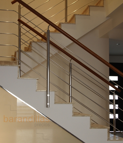Barandillas precios interior acero inoxidable for Escalera exterior de acero galvanizado precio