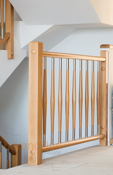Barandillas precios interior madera barandillas for Escaleras de madera interior precio
