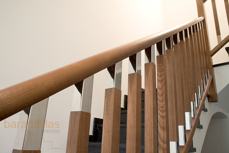 Madera f3 barandillas - Barandillas de madera para interior ...